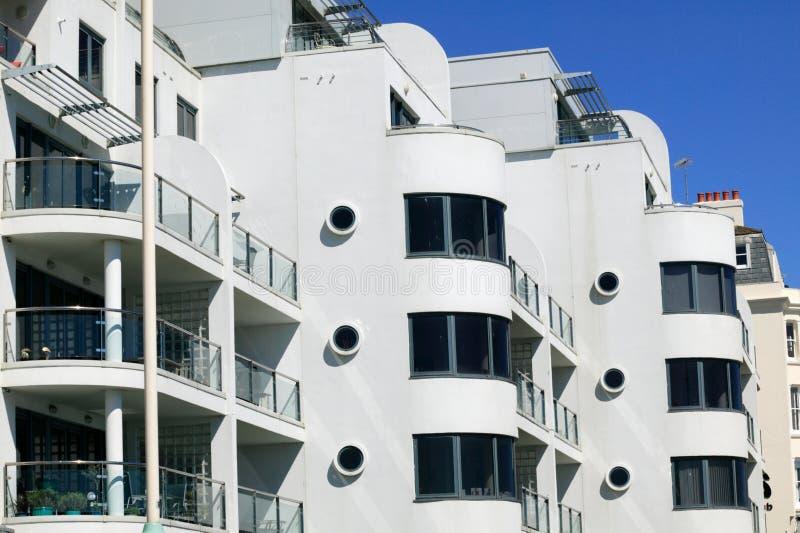 Apartamentos modernos nuevamente construidos imagen de archivo libre de regalías