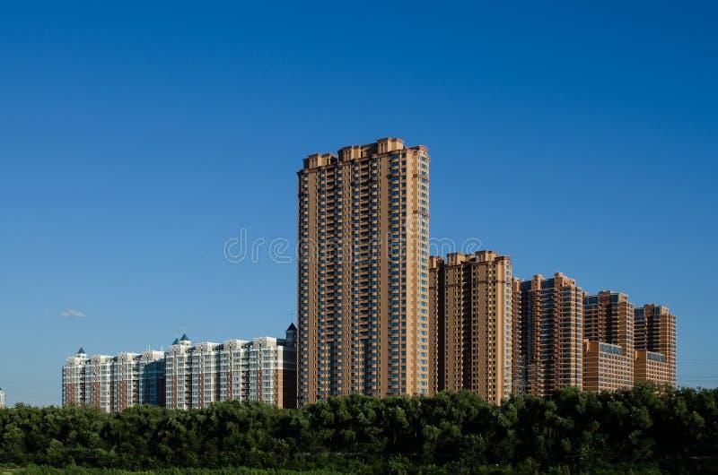 Apartamentos novos de Harbin foto de stock