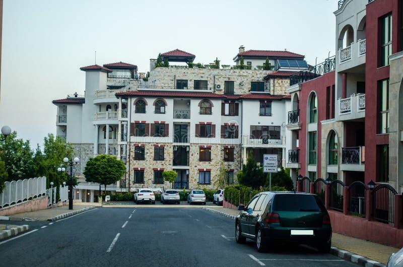 Apartaments в Sveti Vlas стоковое изображение rf