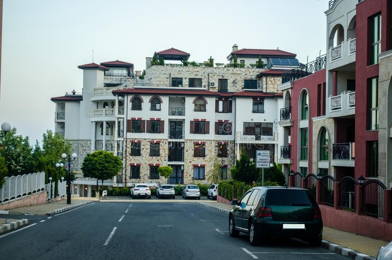 Apartaments i Sveti Vlas royaltyfri bild