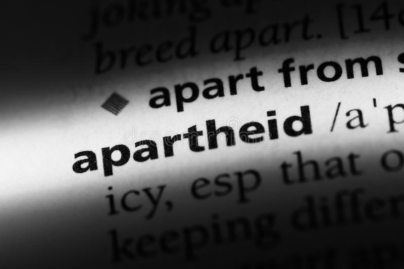 Apartheid. Word in a dictionary.  concept royalty free stock photos