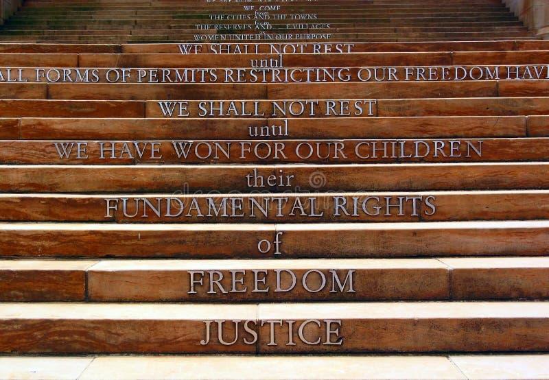 Apartheidsmuseum, Joanesburgo, África do Sul imagens de stock