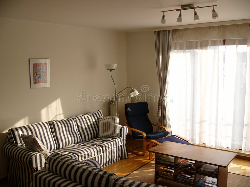 Download Apartment 8 stock image. Image of flat, lounge, room, sunlight - 97877