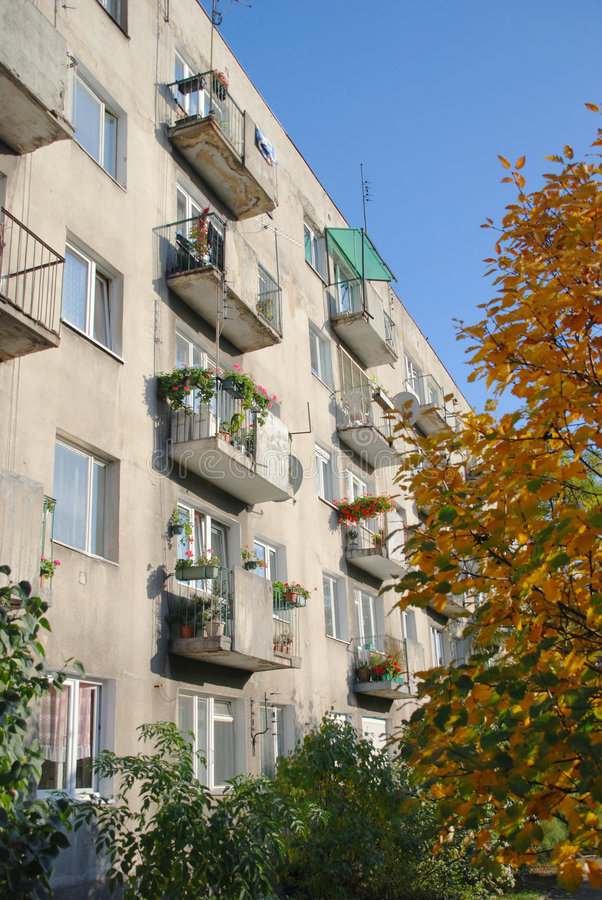 Download Apartment balconies stock image. Image of facade, tall - 7767245