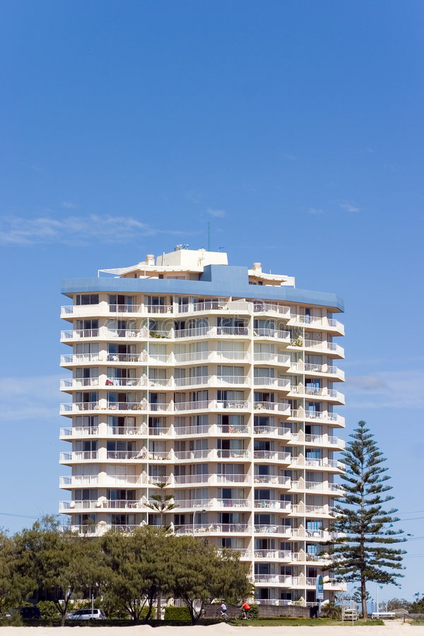 Apartment by the Beach. Gold Coast, Australia royalty free stock image