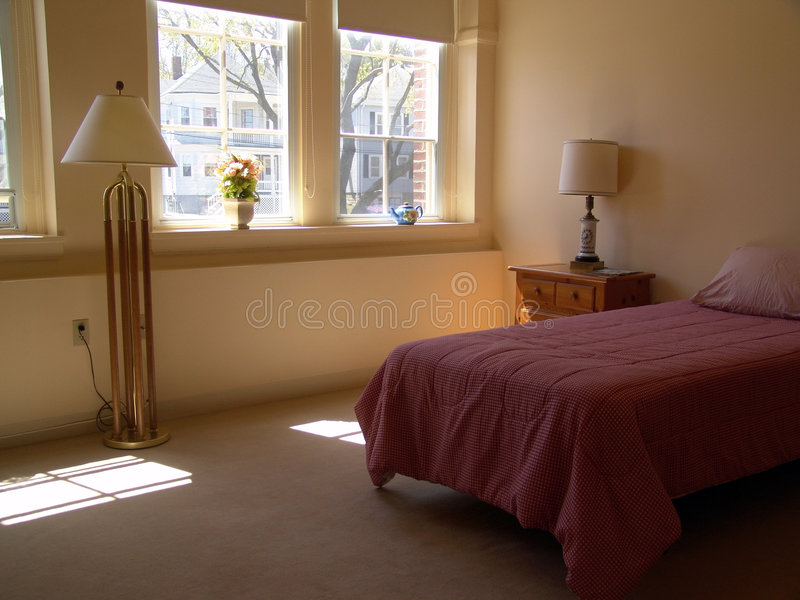 Download Apartment bedroom stock photo. Image of room, lamps, respite - 909756
