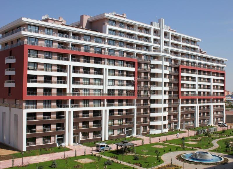 Apartment block. A new high raise residential apartment block stock photos