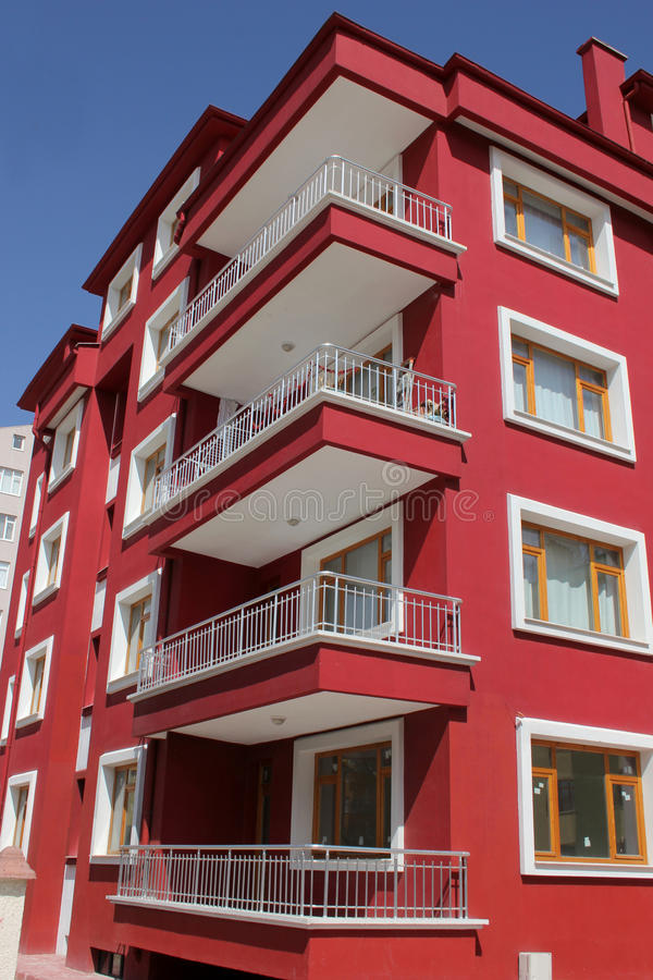 Apartment block. A new high raise residential apartment block royalty free stock image
