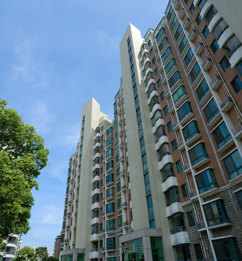 Apartment Block: Apartment Block Stock Image. Image Of Tree, Development
