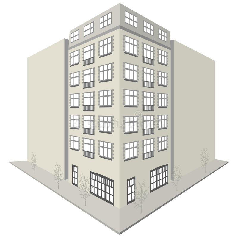 Apartment Block: Apartment Block Design Stock Vector. Illustration Of