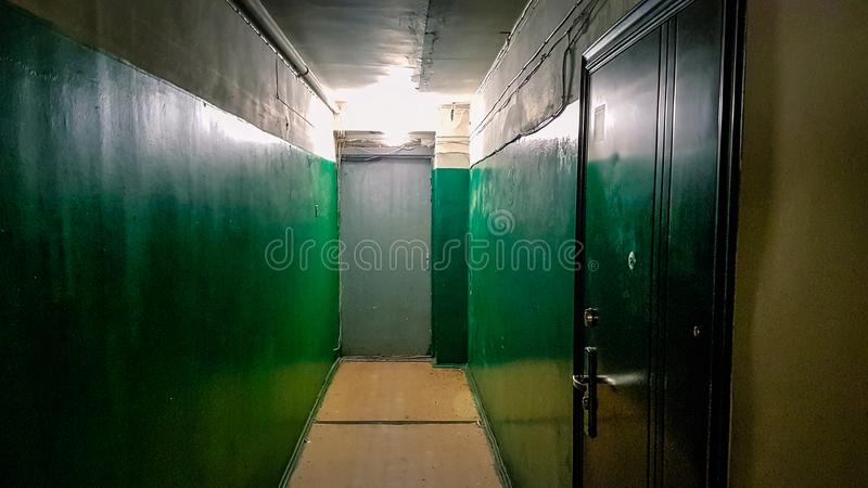 Apartment block eastern europe interior royalty free stock photo