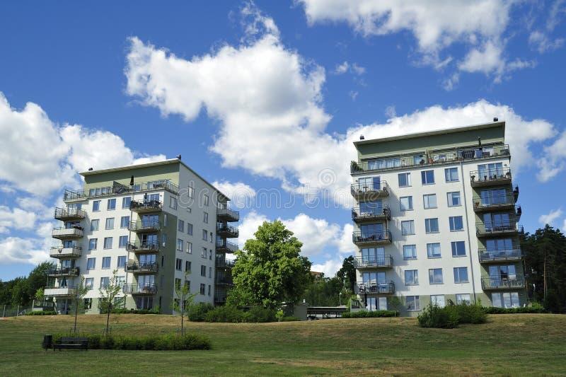 Apartment Block. Hägernäs in Sweden royalty free stock photography