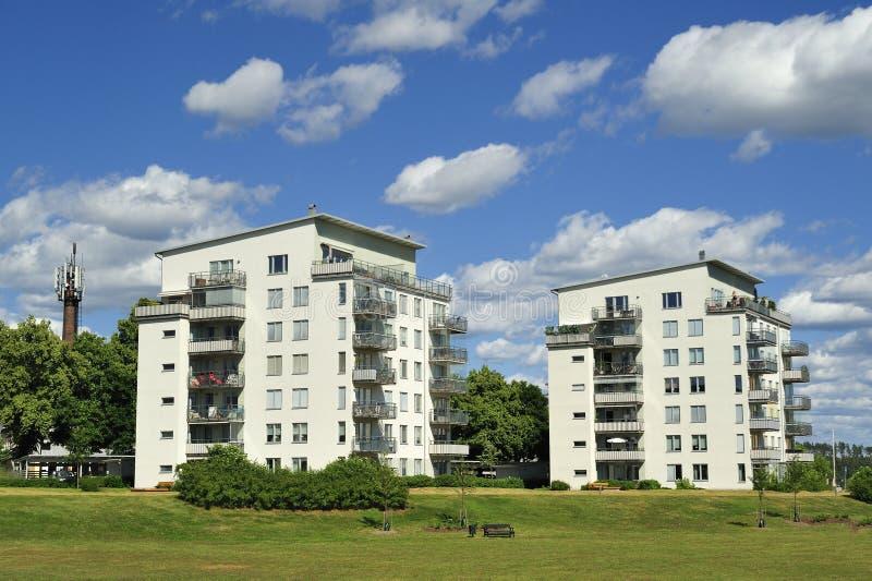 Apartment Block. Hägernäs in Sweden stock image