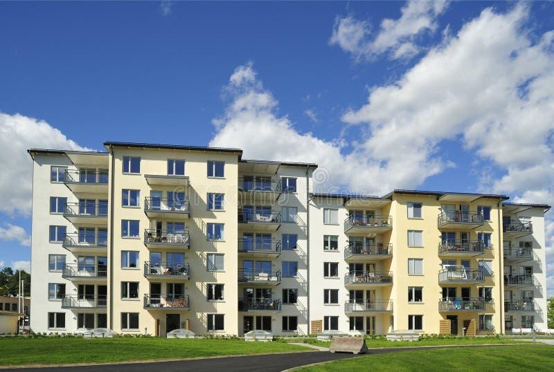 Apartment Block. Hägernäs in Sweden stock images