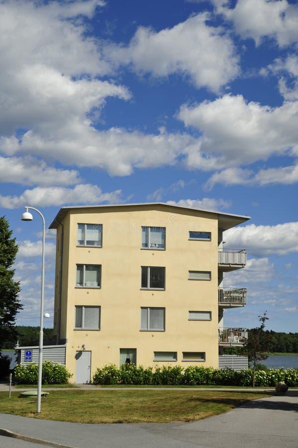 Apartment Block. Hägernäs in Sweden royalty free stock image