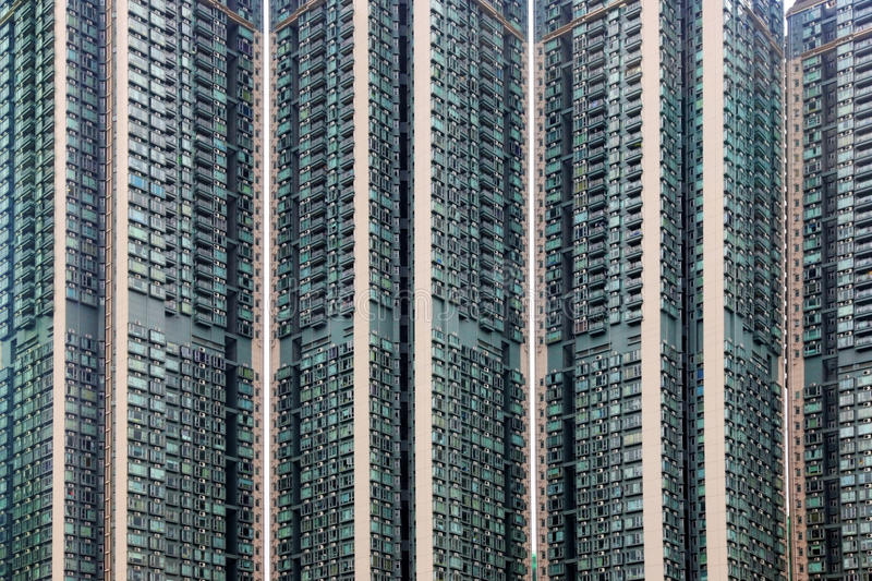 Apartment block in Hong Kong stock image
