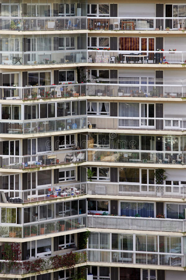 Apartment block in Paris royalty free stock photo