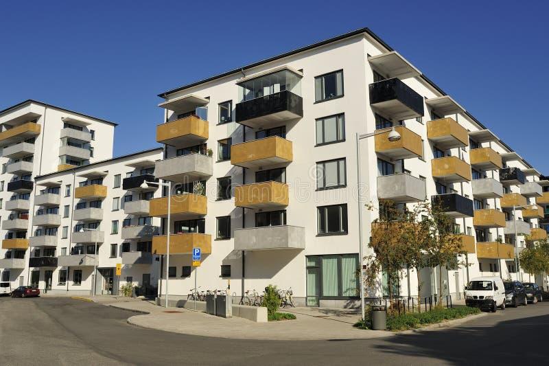 Apartment Block. In summer, Mälarhöjden in Sweden royalty free stock image