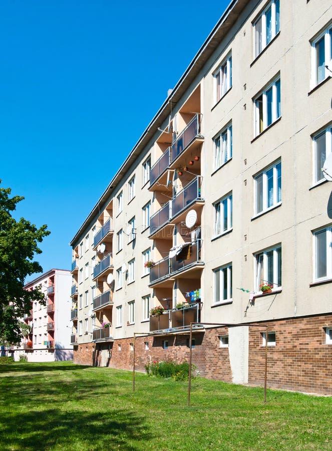 Apartment Block. An urban apartment block in Horice, Czech Republic royalty free stock photo