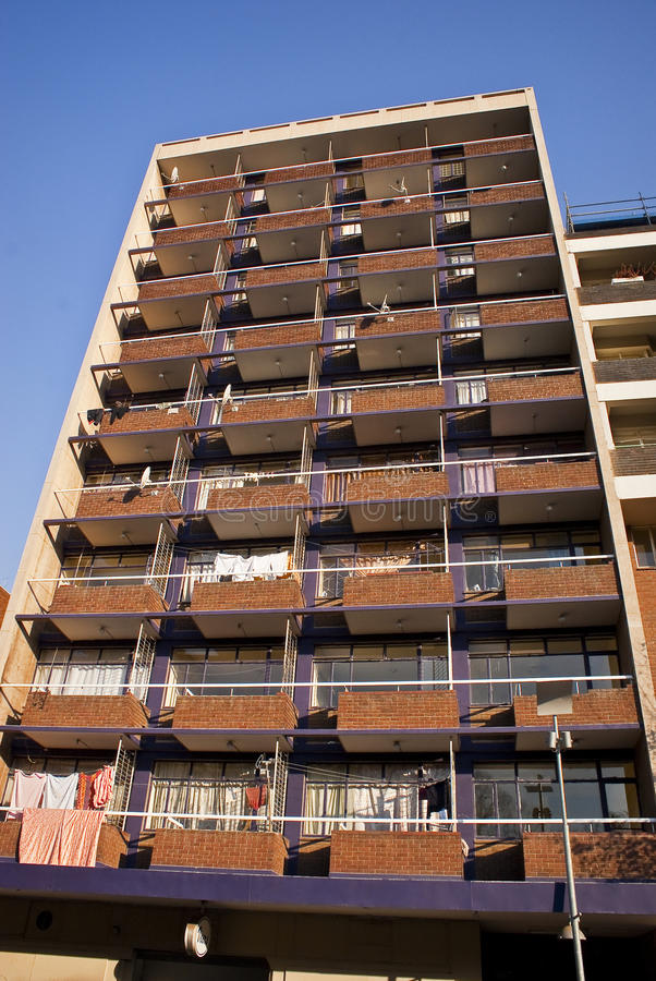 Download Apartment Building stock image. Image of balcony, board - 11122767
