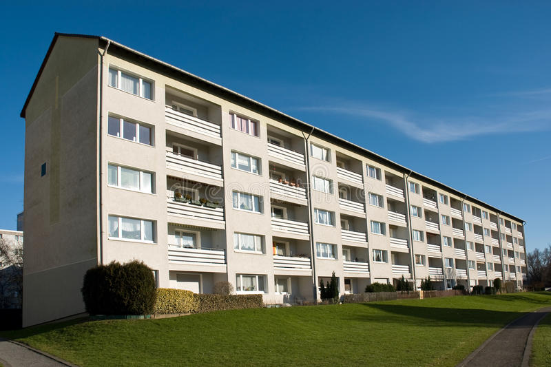 Apartment building. S for rent in a housing development stock photos