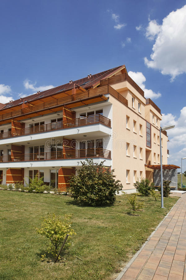 Apartment building. At Moravske Toplice and Vivat SPA royalty free stock images