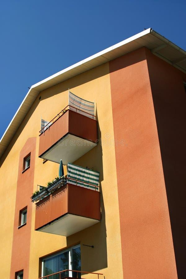 Download Apartment Building stock image. Image of orange, street - 26588287