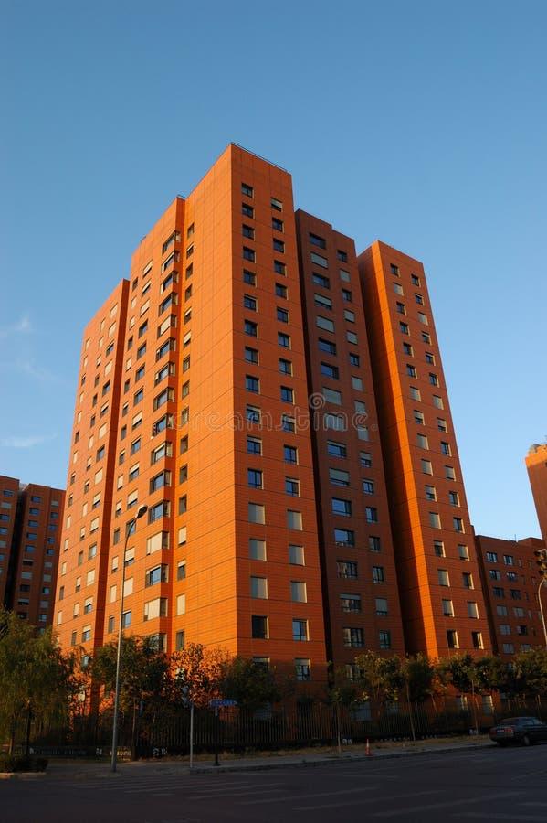 Download Apartment Building stock photo. Image of orange, modern - 3851480
