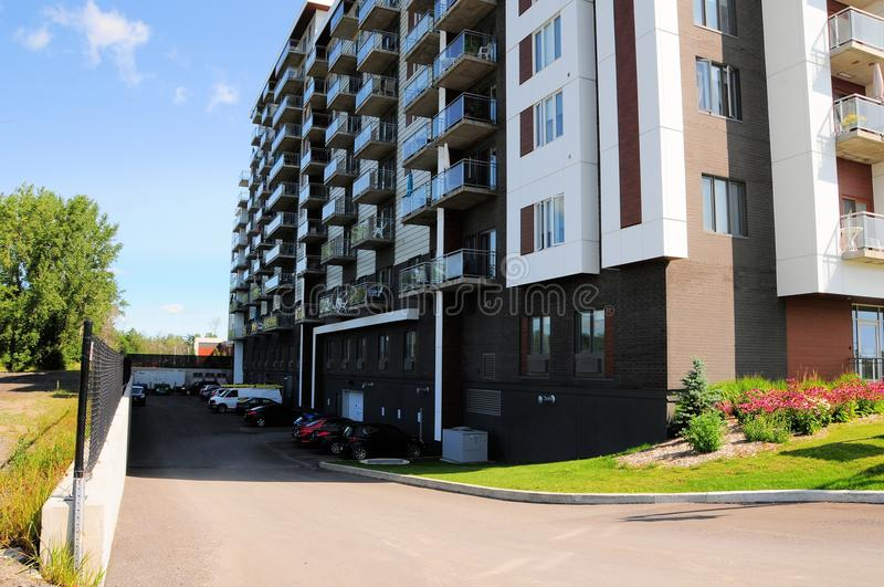 Apartment building, Canada royalty free stock photo