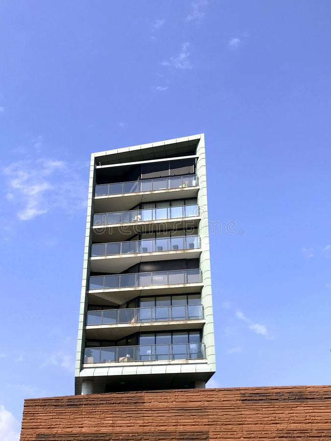 Apartment building Citadel in Almere City Center. royalty free stock photos