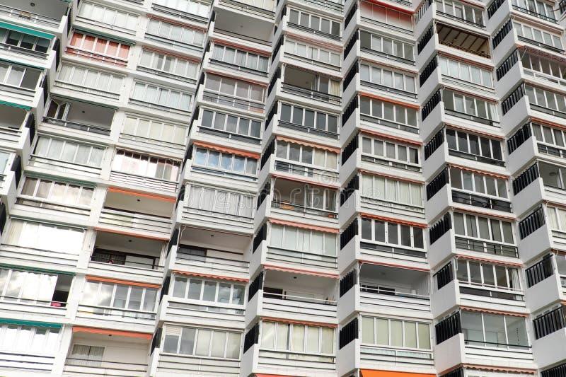 Apartment building facade - residential building exterior,. Apartment building facade - residential building exterior stock photo