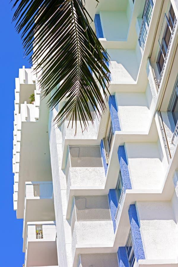 Apartment Building In Miami Beach, Florida. Stock Photo - Image ...