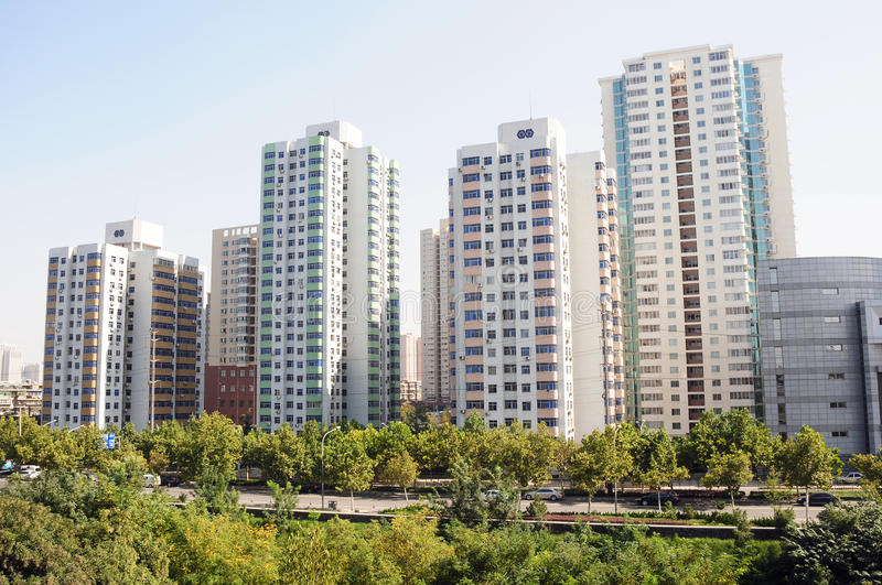 Download Apartment buildings stock image. Image of district, block - 21659309