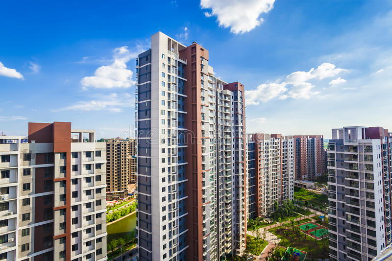 Apartment buildings royalty free stock image