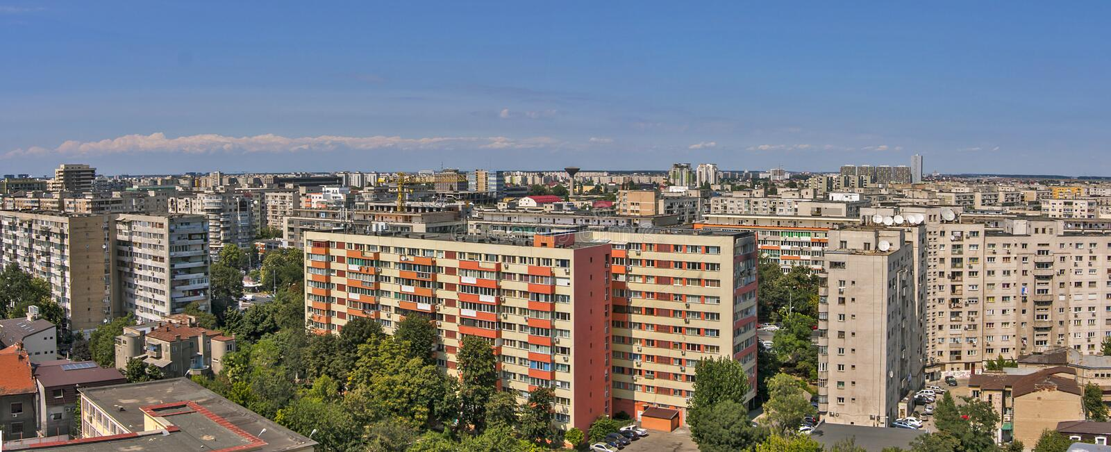 Apartment buildings in Bucharest royalty free stock images