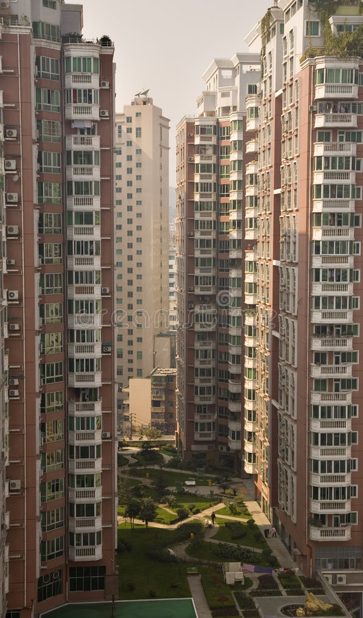 Apartment Buildings Guizhou, China. Very High Residential Apartment Buildings, Guiyang, Guizhou, China. Guiyang is the Provincial Capital of Guizhou Province royalty free stock images