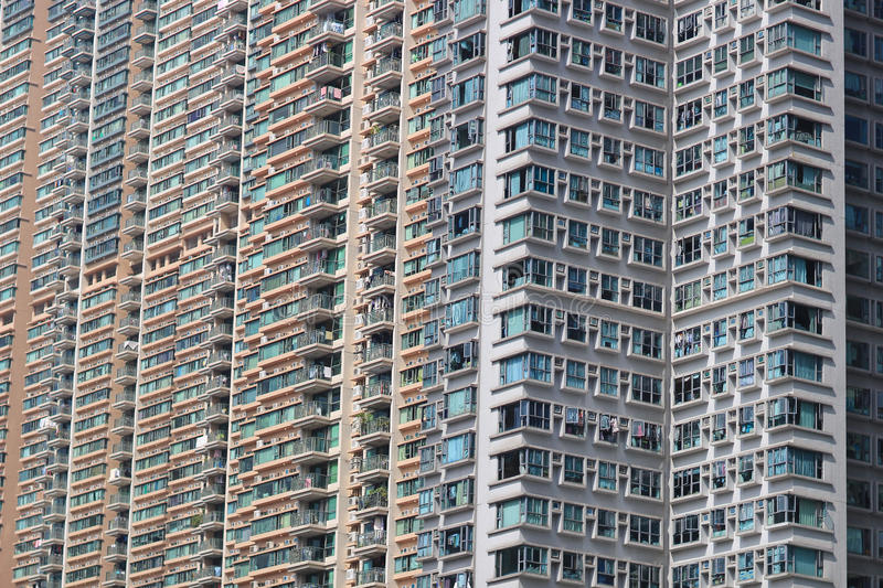 Apartment buildings in residential area. The apartment buildings in residential area, Hong Kong royalty free stock image
