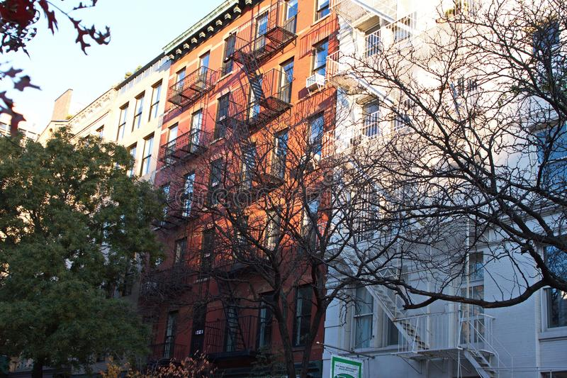 Apartment Buildings on the West Side of Manhattan stock image