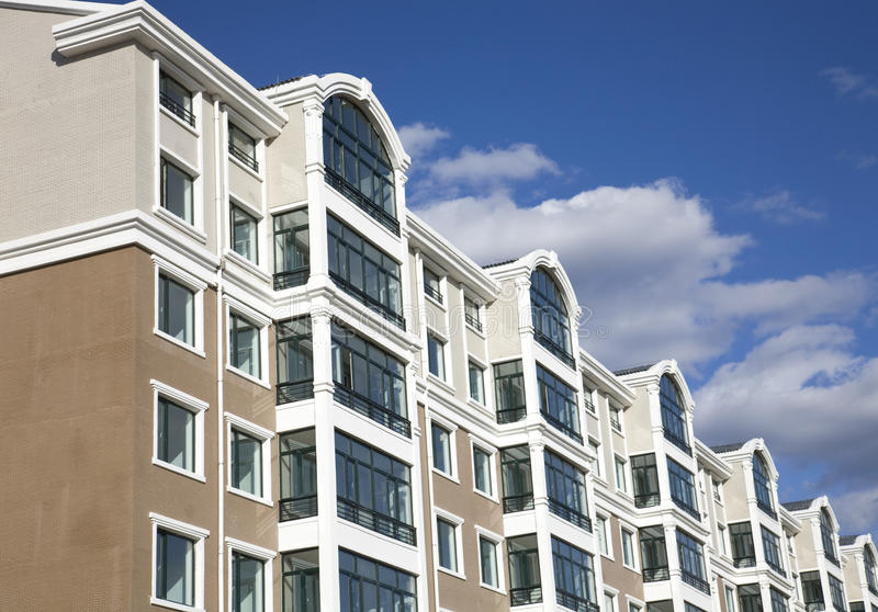 Download Apartment complex stock image. Image of residence, blue - 12082885