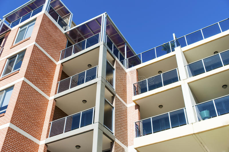 Apartment complex royalty free stock photos