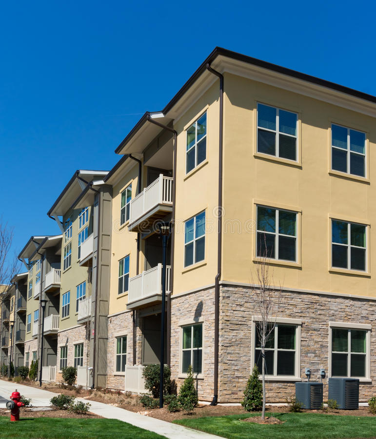 Apartment complex exterior details