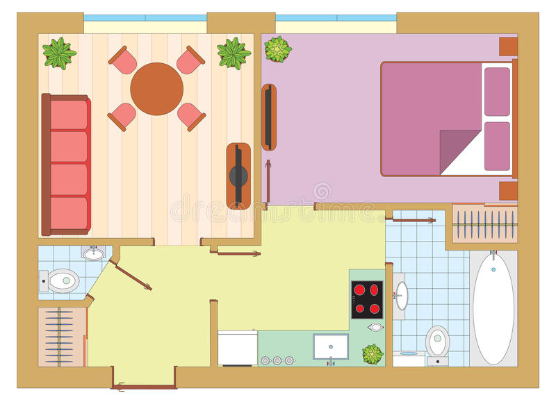 Apartment drawing stock illustration