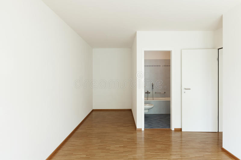 Apartment, empty room royalty free stock photo