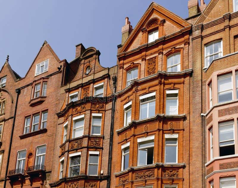 Apartment Facade. London, United Kingdom Apartment Facade - External windows stock photos