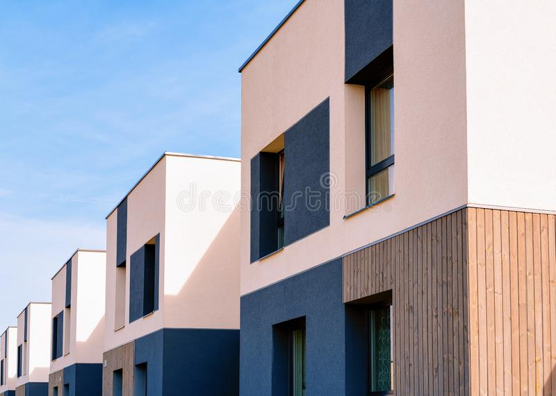 Apartment homes residential buildings complex real estate copy space. Apartment homes residential buildings complex real estate concept. Place for copy space royalty free stock photos