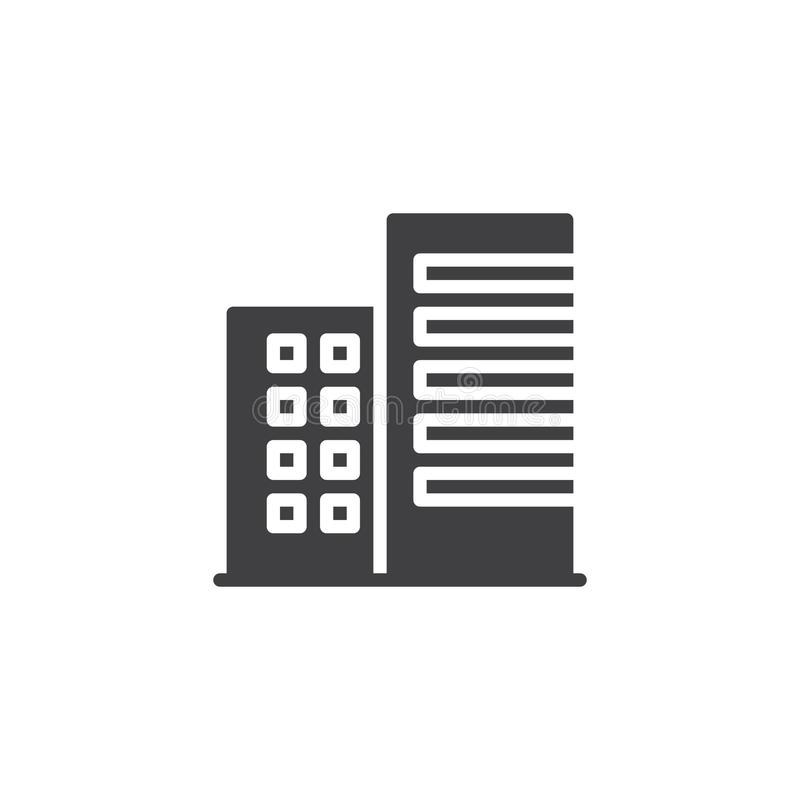 Free Apartment House Building Icon Vector Royalty Free Stock Photos - 106919748
