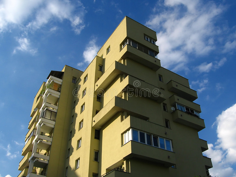 Apartment House In Clouds Royalty Free Stock Images