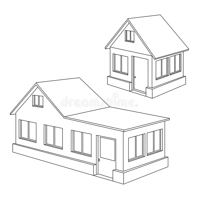 Free Apartment House Contour. Stock Photo - 21626500