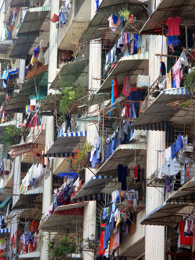 Apartment Laundry Malaysia stock image