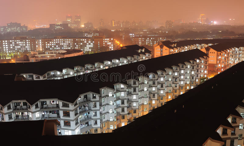 Download Apartment night scenes stock image. Image of apartments - 21838491